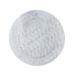 Crystal Cut Tray Round 16""