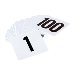 Number Cards 4""