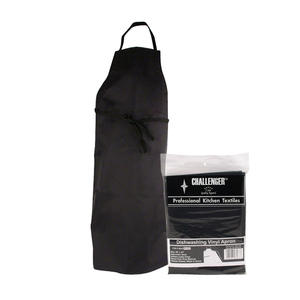 VINYL APRON DISHWASHING 29x42 BLACK 866A